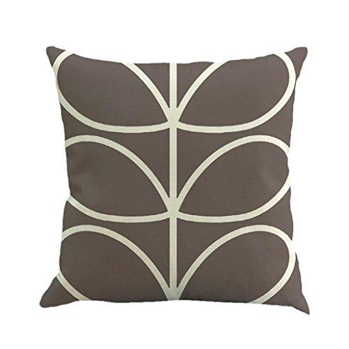 KMG Kimloog Throw Pillowcase,Geometric Pattern Solid Linen Cushion Cover 18x18 Inch Pillowcase Car Home Decor -