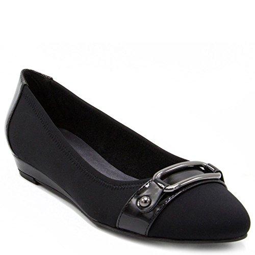 Zapatillas De Vestir London Demi-wedge Chelsea Fog Para Mujer, Negro