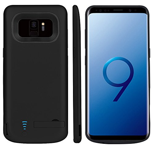 RUNSY Samsung Galaxy S9 Battery Case, 5000mAh Rechargeable Extended Battery Charging Case, External Battery Charger Case, Backup Power Bank Case with Kickstand (5.8 inch)