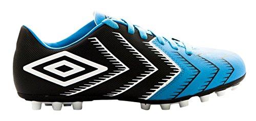 Umbro Stadia 3 Ag - Bota para hombres, color negro / blanco / bluebird, talla 42.5
