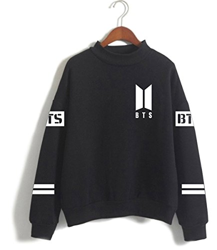 Loose hope Fitting Bts Ragazze Top Cool Pullover Nero 94 J Semplice Casual Fans Donna Carina Felpe Kpop Simyjoy Y75qxPawgY