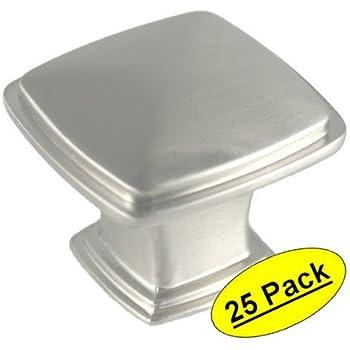 Cosmas 4391SN Satin Nickel Modern Cabinet Hardware Knob - 1-1/4 ...