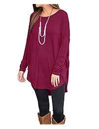 Ya Lida Women's Autumn Winter Korean Long-sleeved Round Neck T-shirt