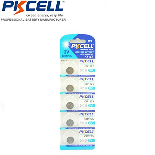 CR1225 3V Lithium Battery for Thermometers and Watches 5PCS