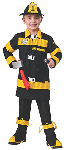 [Rubies Young Heroes Fire Fighter Child Costume, Medium, One Color] (Fire Fighter Child Costumes)