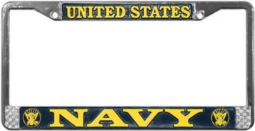 us-navy-license-plate-frame-chrome-metal