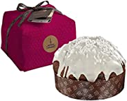 Fiasconaro 'Frutti Di Bosco' Berries Covered with White Chocolate Panettone Cake, 750 Gram, Hand Wrapped, Made in Italy