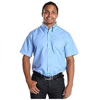 Camisa para hombre de manga corta de centro de ocio Slim Fit T ...