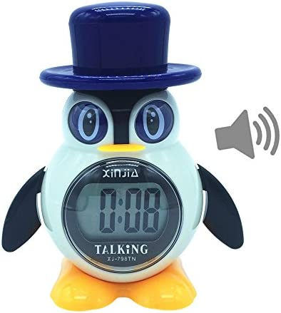 Russian Talking LCD Digital Alarm Clock P Penguin Style Gifts for Children