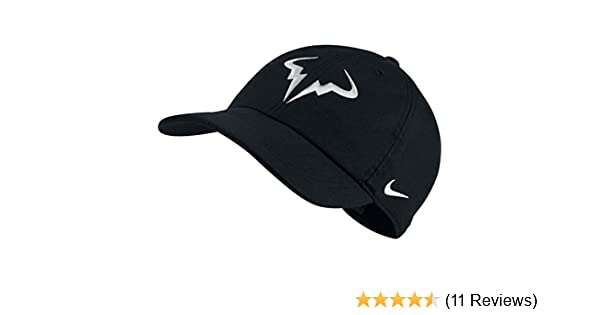 31ef30fbd Amazon.com: Nike Mens Aerobill Rafa Nadal H86 Tennis Hat Black/White ...