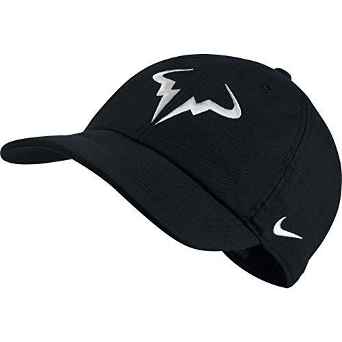 Amazon.com  Nike Mens Aerobill Rafa Nadal H86 Tennis Hat Black White ... 92b7af82574