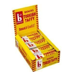 Bonomo Turkish Taffy Bar (Bonomo Turkish Taffy Banana Flavor (Pack of 24))