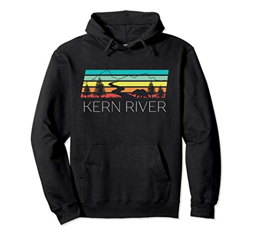 Kern River California Sequoia Forest Kernville Retro Camping Pullover Hoodie