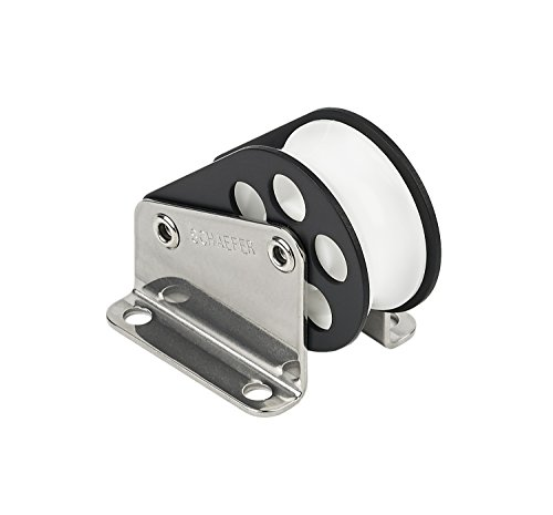 Football Block Tackle (Schaefer 3 Series Halyard Lift Block Aluminum Cheeks with Stainless Steel Straps)
