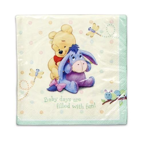Pooh Baby Lunch Napkins