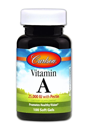 Carlson - Vitamin A, 25000 IU with Pectin, Promotes Healthy Vision, 100 Soft gels