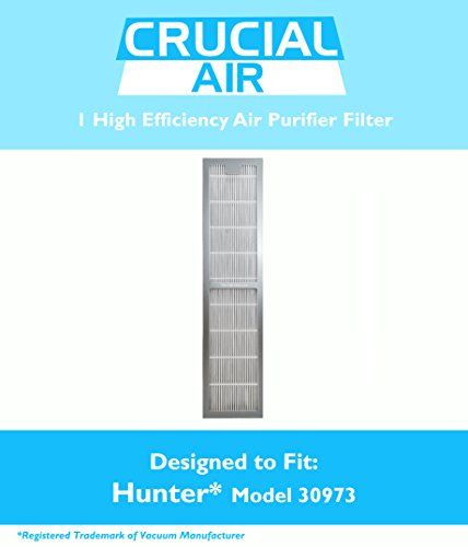 Crucial Air 700953607775 Hunter 30973 Air Purifier Filter, Fits 30890 and 30895 Models