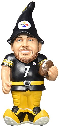 """NFL Pittsburgh Steelers Ben Roethlisberger #7 Resin Player Gnome, 8"""", Team Color at Steeler Mania"""