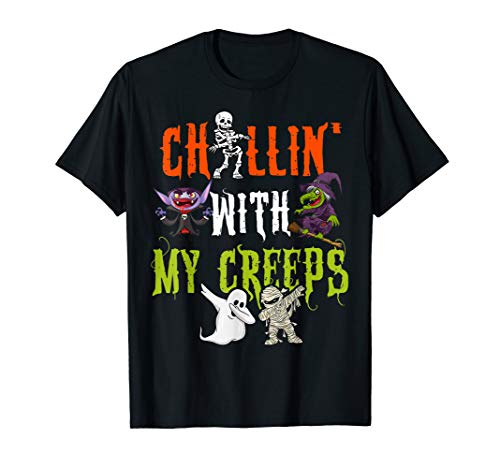 Chillin With My Creeps Halloween Funny Gift T-Shirt]()