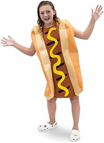 Ballpark Frank Hot Dog Children's Food Halloween Costume, Dress Up Party Cosplay