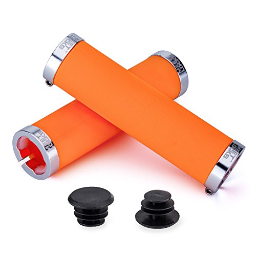 MEETLOCKS Bike Handlebar Grips,Double Lock-on Bicycle Grip Handle Bar End Holding Locking Grips,for MTB,BMX,Mountain,Downhill,Folding Bike