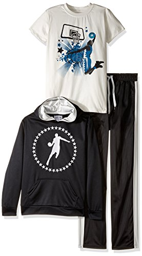 Team8 Boys' Big Boys' 3 Piece Mesh Hoodie, Track Pant, an...