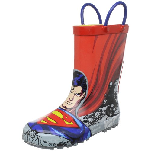 Western Chief Superman Rain Boot (Toddler/Little Kid/Big Kid),Red,7 M US (Red Superman Boots)