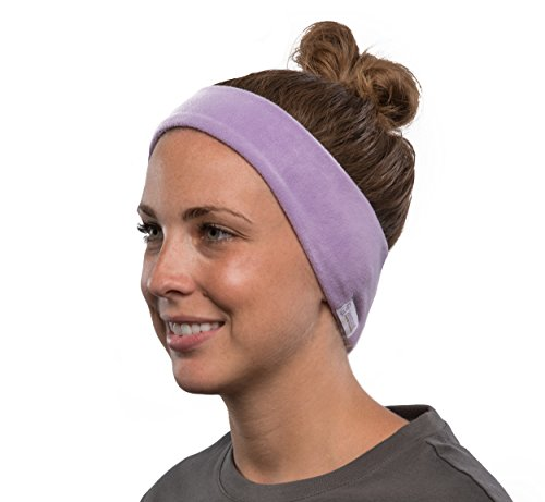 SleepPhones Simple | Wireless Headband Sleep Headphones | Incl Micro USB for Recharging | 20+ Hours Playback | 17 Pre-Loaded Sleep Audio Tracks | Quiet Lavender - Fleece Fabric (Size M)