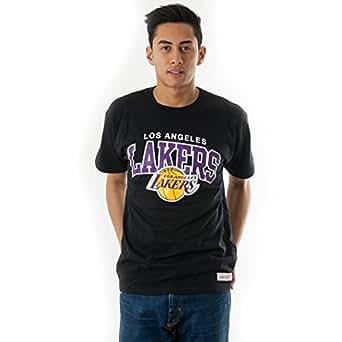 Mitchell & Ness Los Angeles Lakers Team Arch Tee Black Shirt T-Shirt Herren Men