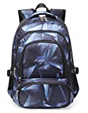 BLUEFAIRY Kids School Bags for Boys Backpacks Elementary Kindergarten Bookbags Lightweight Durable (Black,Blue)