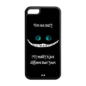 Cute Quote I'm not crazy my reality is just different than yours Hard Rubber Cover Case for iPhone 5C,5C Phone Cases
