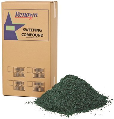 Grit Oil Base Sweeping Compound - Renown REN04013 Sweeping Compound Oil Base, No Grit, 50 lb. Box, Green