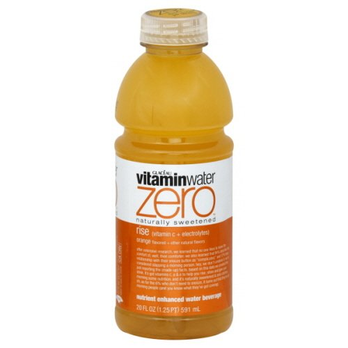 Glaceau Vitaminwater Zero Naturally Sweetened Water Beverage, Nutrient Enhanced, Rise, Orange , 20 Fl. Oz, ( Pack of 6 - Water Enhanced Beverage Nutrient