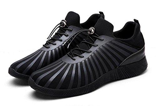 Zapatos deportivos de los hombres Zapatos de impresión offset de tela elástica Casual Zapatos de respiración antideslizante Zapatos de running , white , 40