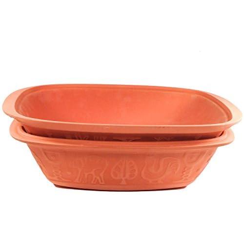 Romertopf 113 Glazed Clay Baker w/ Cookbook Large Casserole and Roaster Terra Cotta