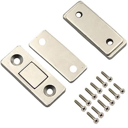 Ultra-Thin Magnetic Door Stopper, Glass Cabinet, Wardrobe, Cabinet Sliding Door, Zero-Space Magnetic Door Stopper, Invisible Magnetic Lock (2pcs) ()
