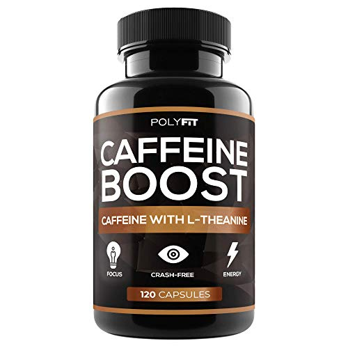 Caffeine with L-Theanine Pills - 120 Capsules - Nootropic Supplement for Energy and Focus - 100mg Caffeine & 200mg LTheanine Per - Mg 200 120 Pills