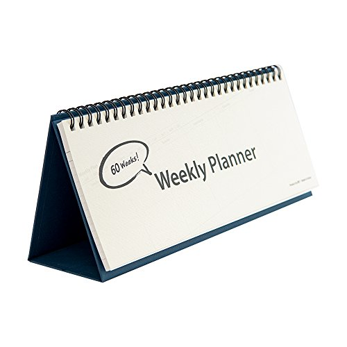 Undated Desk Weekly Daily Calendar Planner, Scheduler Memo Pad, Appointment Book, 11.8 x 4 inches (60 Weeks, Type B)