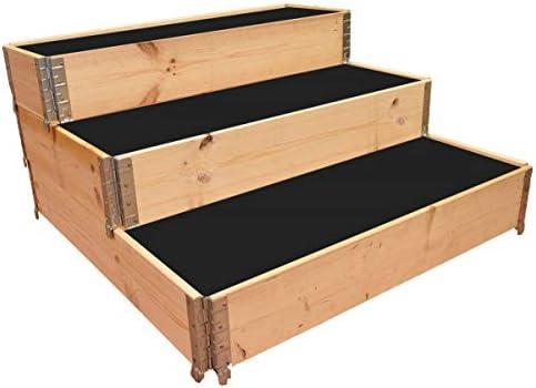 Multitanks - Huerto cuadrado de madera natural en escalera 1200 x ...