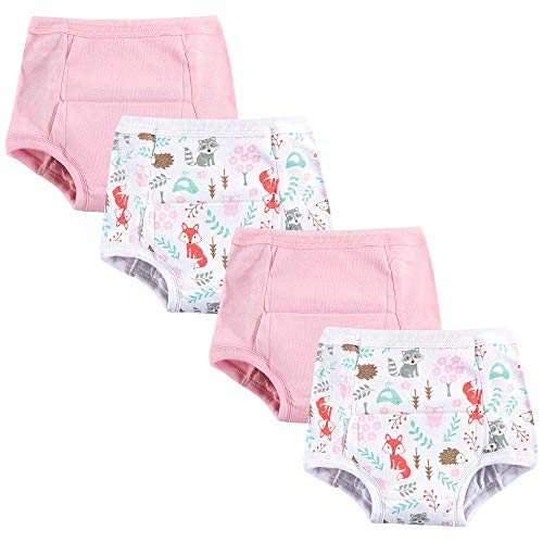 (Hudson Baby Baby Cotton Training Pants, 4 Pack, Woodland Fox,)