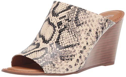 Franco Sarto Women's Yasmina Wedge Sandal, Vanilla Python, 7 M US
