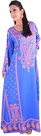 Click on Style Blue Party Jalabiya For Women