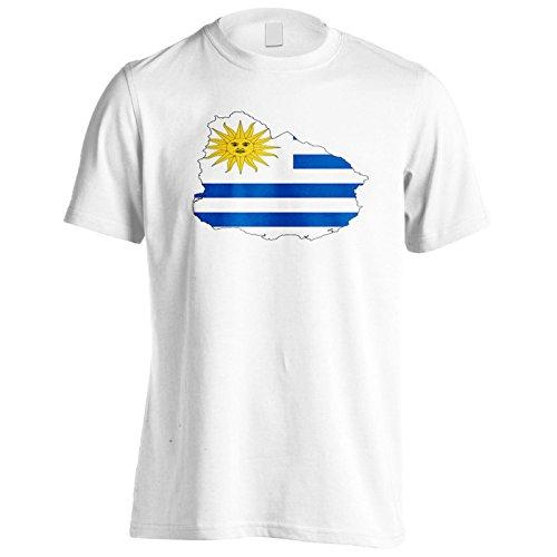 Neue Uruguay Flagge Kunst Reise Herren T-Shirt l893m