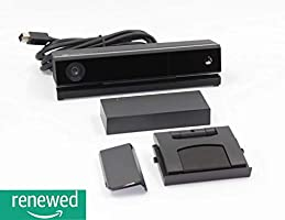 Xbox One Kinect Sensor With Included Adapter For Xbox One S, Xbox One X, And PC - Accessory Bundle (Renewed)