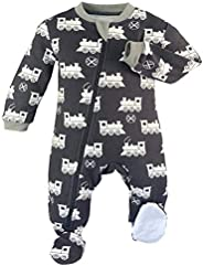 ZIPPYJAMZ Organic Baby Footed PJ's w/Inseam Zipper for Quicker and Easier Diaper Cha