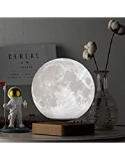 Mydethun Moon Lamp Moon Light Night Light for Kids Women USB Charging and Touch Control Brightness 3D Printed Warm and Cool White Lunar Lamp