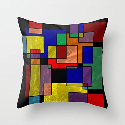 Artistdecor Throw Pillow Covers Of Geometry 16 X 16 Inches / 40 By 40 Cm,best Fit For Saloon,kids Boys,lounge,floor,lover,christmas Two Sides (100 Floors Halloween 3)