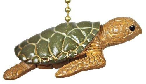 Tropical Reef Ocean Sea Turtle Tiki Ceiling Fan Light Pull