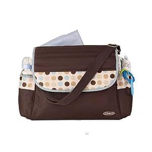 graco deco dots messenger diaper bag diaper tote bags baby. Black Bedroom Furniture Sets. Home Design Ideas