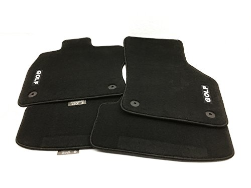 Gti Floor (2015 VW Volkswagen GTI MK7 Carpeted Set of 4 Front & Rear Floor Mats GENUINE OEM 5G1-061-370-A-WGK)